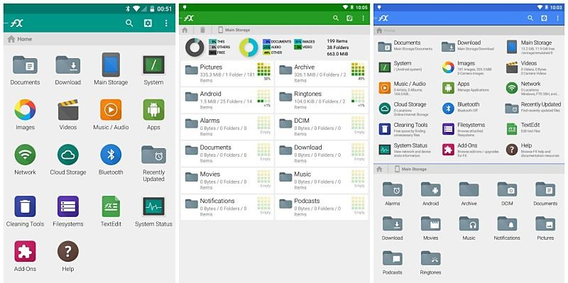 Rating of the best file managers for Android